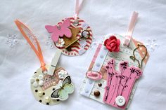 Embellished Tags Journaling Spots Mixed Media by ArtistsCornerShop