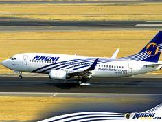 Nuestro Boeing 737 aterrizando.