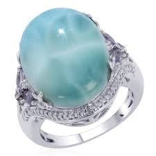 larimar and diamond engagement ring Google Search Engagement