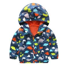 Fashion Baby Boy Jackets Soft shell Hooded Animal Printed Baby Coat Outerwear Kids Spring Autumn Children Clothing