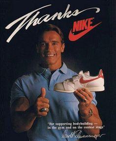 Thanks!  Arnold Schwarzenegger. 80s Nike Ad