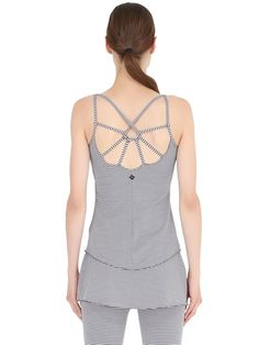 PRANA - STRIPED MICROFIBER TANK TOP - LUISAVIAROMA - LUXURY SHOPPING WORLDWIDE SHIPPING - FLORENCE