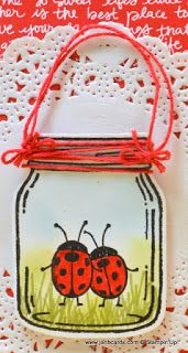 I used Stampin' Up! Hostess stamp set called Love You Lots for the ladybirds and…