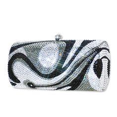 Swirl Crystal Clutch Bag  #Swarovski #clutchbag  http://www.playbling.com/en/crystal-clutch-bag/swirl-crystal-clutch-bag.html