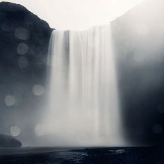 I can hear this waterfall roaring. Wow. Lovely. :: Skogafoss Waterfall in Iceland Landscape by EyePoetryPhotography