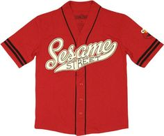 Sesame Street Elmo Baseball Jersey  http://www.beststreetstyle.com/sesame-street-elmo-baseball-jersey/