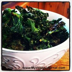 How to make super easy and delicious kale chips! <3 #MyVeganJournal