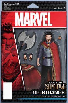 Doctor Strange #1 Action Figure Variant Cover by John Tyler Christopher