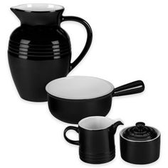 Le Creuset® Serveware Collection in Black and White - BedBathandBeyond.com