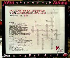 A Foamy Crossword  Letters