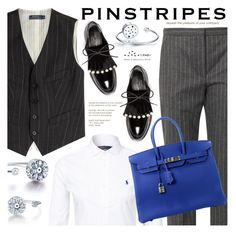 """""""Preppy Chic"""" by totwoo ❤ liked on Polyvore featuring Polo Ralph Lauren, Alexander McQueen, Robert Clergerie and Hermès"""