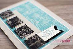 Stampin Up Liebe ohne Grenzen Going Global Designerpapier im Block Weite Welt Going Places DSP Männerkarte