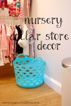 Dollar store decor and organization in our nursery.... shelf liner under the changing pad on top of the dresser!!!