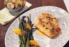 MICHAEL SYMON Seared Halibut with Citrus Beurre Blanc & Sesame Roasted Asparagus - Chew Recipes