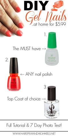 $5.99 DIY Gel Nails | Your Fairy Godmother. If this is for real, this changes everything