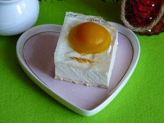 "Sernik ""Jajko sadzone""/ cheesecake fied egg #sweet #mniam #pyszne #ciasto Pudding, Eggs, Cheese, Baking, Breakfast, Food, Morning Coffee, Custard Pudding, Bakken"