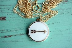 White and Gold Arrow Necklace (via design for mankind)
