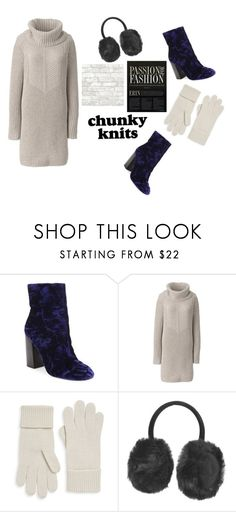 """Cable Knit Me bad"" by fashionistasrock on Polyvore featuring Rebecca Minkoff, Lands' End, Portolano and Topshop"