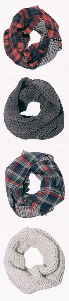 Awesome Plaid Scarves - to keep off the chilly weather