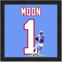52f382472 Houston Oilers Warren Moon Framed Jersey Photo