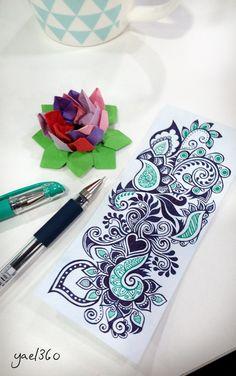tattoo - mandala - art - design - line - henna - hand - back - sketch - doodle - girl - tat - tats - ink - inked - buddha - spirit - rose - symetric - etnic - inspired - design - sketch New Tattoos, Body Art Tattoos, Tattoo Drawings, Girl Tattoos, Sleeve Tattoos, Tattoos For Women, Tatoos, Henna Tattoos, Paisley Tattoo Design