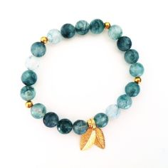 Moss agate: wealth and abundance Yoga Armband, Moss Agate, Gemstone Bracelets, Abundance, Beaded Necklace, Gemstones, Wealth, Change, Jewellery