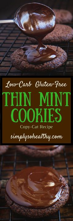 Our Low-Carb Thin Mint Cookies are a sugar-free and grain free version of the Girl Scout cookie we all love! These cookies are perfect for those on low-carb, lc/hf, Atkins, keto, grain-free, gluten-free, diabetic, and Banting diets.