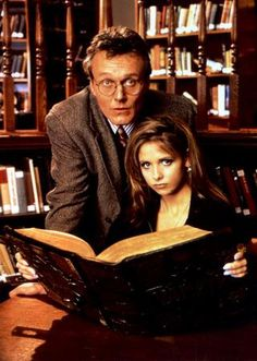 Buffy The Vampire Slayer Cast Poster Giles Buffy Library 24x36