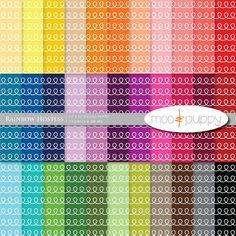 Moo and Puppy - Rainbow Hostess digital scrapbook paper pack