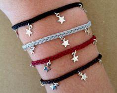 Silver Plated Stars Charm Friendship Bracelet