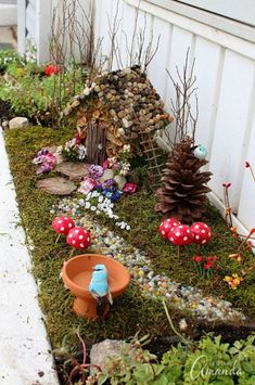 Magical Beautiful Fairy Garden Ideas 284