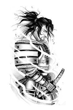 Japanese Tattoo Designs, Tattoo Designs Men, Tattoo Studio, Guerrero Tattoo, Tattoo Samurai, Bio Organic Tattoo, Harley Quinn Tattoo, Crown Tattoo Design, Samurai Artwork
