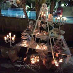 #candytable #ladder #outdoordecoration #vintage #wedding #weddingdecoration