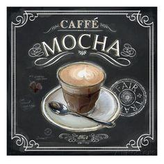Coffee House Caffe Mocha Art by Chad Barrett at AllPosters.com