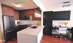 Yaletown Kitchen Renovation. Contemporary design with white caesarstone countertop   Lorenz Developments Ltd.