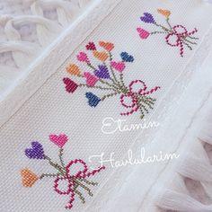 #hayırlıakşamlar . . . . . . #etamin #etaminhavlu #10marifet #crossstitch #a101 #bim Cross Stitch Geometric, Small Cross Stitch, Butterfly Cross Stitch, Beaded Cross Stitch, Cross Stitch Borders, Cross Stitch Flowers, Cross Stitch Designs, Cross Stitching, Cross Stitch Patterns