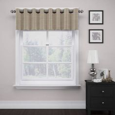 Deron Thermalayer Grommet Valance, Beige