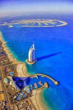 Burj Al Arab Helicopter view
