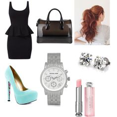 A fashion look from September 2014 featuring TaylorSays pumps, Furla handbags and Michael Kors watches. Browse and shop related looks.
