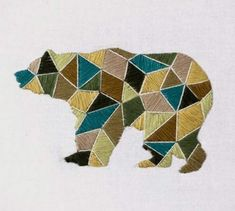 geometric animal designs, very cool