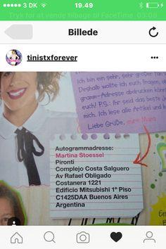 Tini's autograf adresse