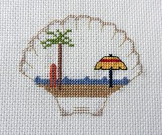 Find Camping Cross Stitch Patterns at Camp Cross Stitch!  Beach scenes, campers, trailers, 5th wheel, Airstream, Mt. Rushmore and more!! Cross Stitches, Cross Stitch Samplers, Counted Cross Stitch Patterns, Cross Stitch Designs, Mini Cross Stitch, Cross Stitch Cards, Hand Embroidery, Cross Stitch Embroidery, Needlepoint Designs