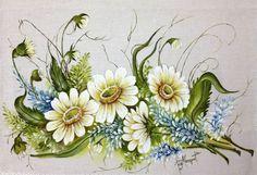 Floral - Pintura em Tecido