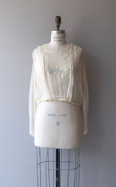 Plein Air-Bluse 1920er Jahre Vintage Bluse Bluse von DearGolden
