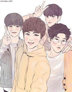 choi seungcheol x chwe hansol x jeon wonwoo x kim mingyu fanart