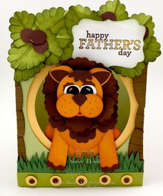 Lion Punch Art made with Stampin Up Punches. Tutorial available  Sharon White