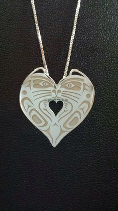"""fyeahindigenousfashion: """"cat heart necklace, Travis Neel Studio (Kwakiutl) """""""