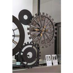 Horloges rouages en métal L 164 cm MÉCANISME