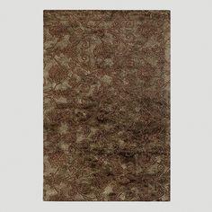 Relief Jute & Wool Rug in Chocolate | World Market $1050 7-9x10-6