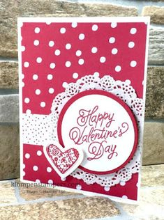 Klompen Stampers (Stampin' Up! Demonstrator Jackie Bolhuis): New Sketch + 2 Fun Ideas Homemade Valentine Cards, Valentines Day Cards Handmade, Valentines Art, Greeting Cards Handmade, Homemade Cards, Valentine Nails, Valentine Ideas, Valentine's Cards For Kids, Card Patterns